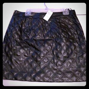 NWT Banana Republic Faux Leather mini skirt!